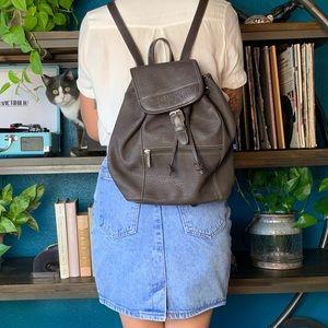 Handbags - VINTAGE ESPRIT SMALL BACKPACK BROWN LEATHER